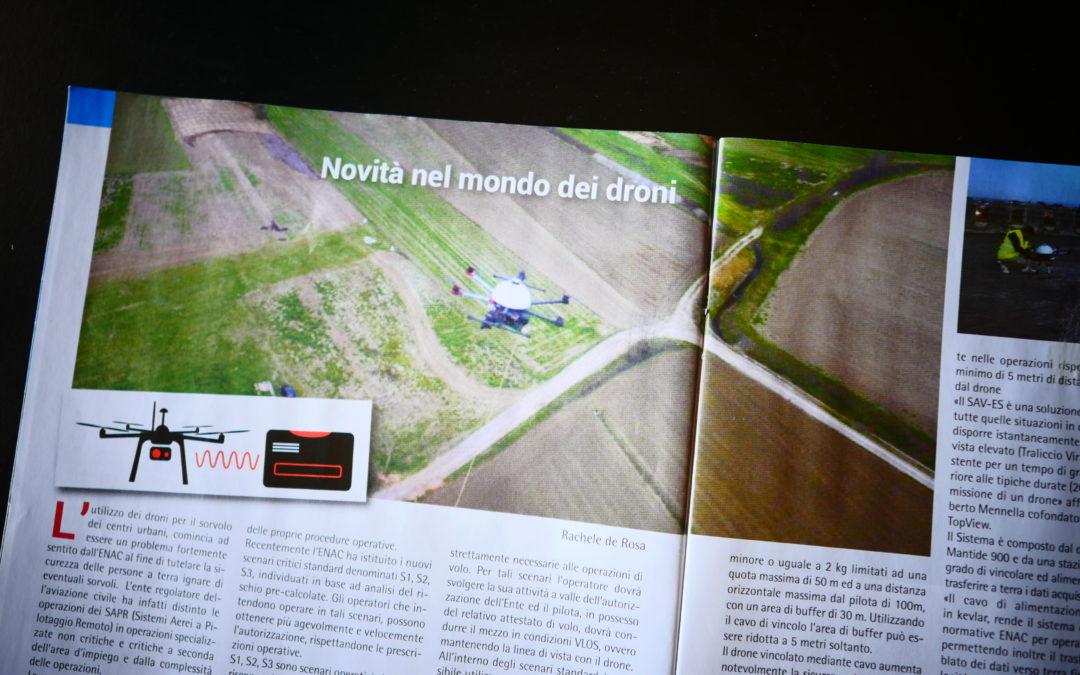 """Pubblicazione su """"Aeronautica"""" – """"Novità nel mondo dei droni"""""""